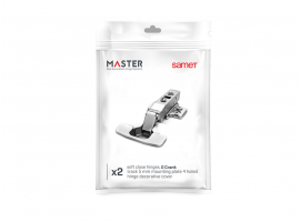 Master Yavaşlatıcılı Düz Menteşe 48 mm 2'li Paket