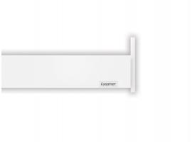 Alphabox Frenli Mandallı 350 mm Takım Beyaz 18mm